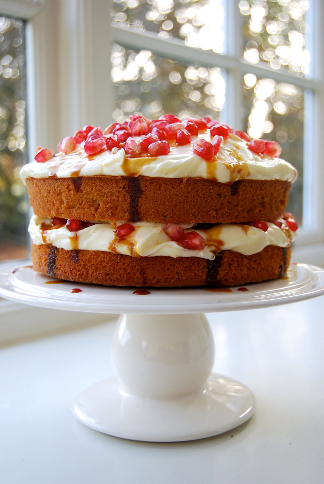 Ginger & Pomegranate Celebration Cake