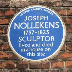 Photo of Joseph Nollekens blue plaque