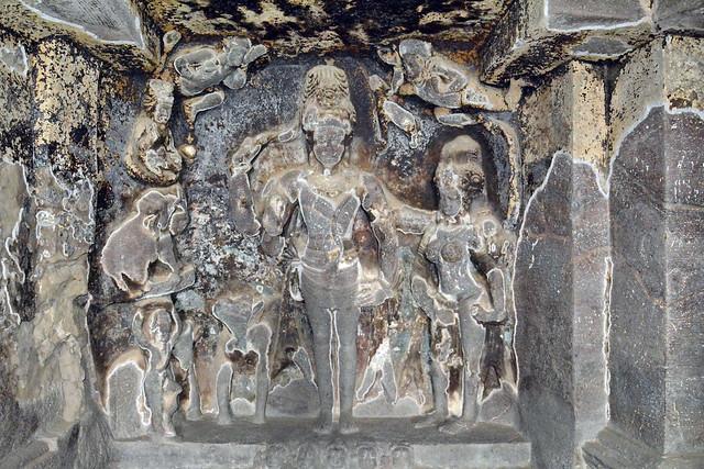 India - Maharashtra - Ellora Caves - Cave 15 - 8