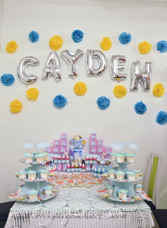 baby cayden 39 s fullmoon party with rainbow dreams balloons