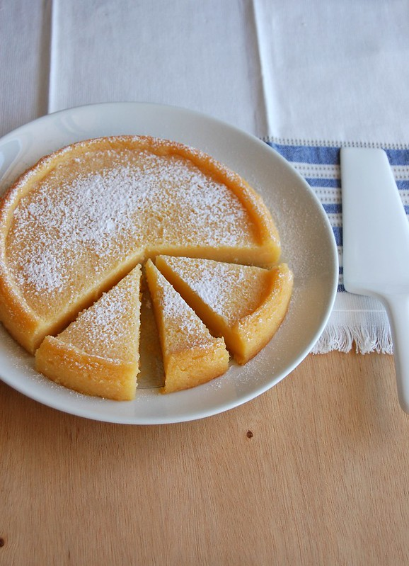 Crustless lemon tart / Torta de limão sem massa