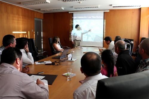 Exposición en comisión de medio ambiente del Consejo Regional
