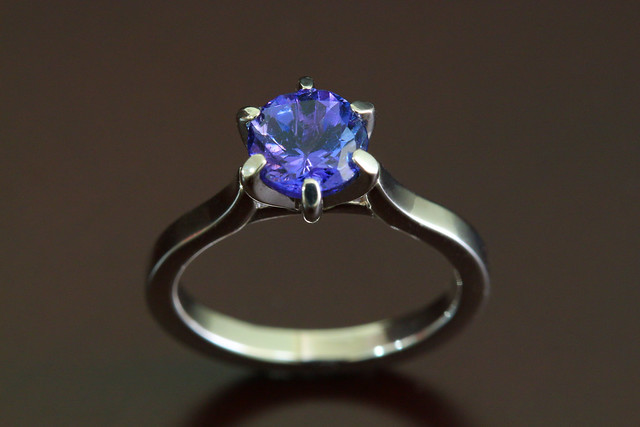 Tanzanite & Palladium Engagement Ring