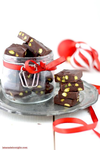 fudge al cioccolato fondente e pistacchi7