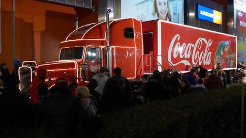 Coca-Cola Weihnachtstruck beim A10-Center