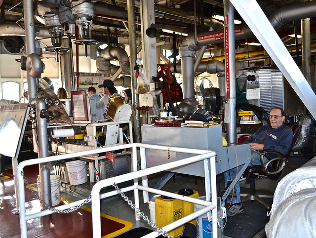 steamboat natchez - engine room