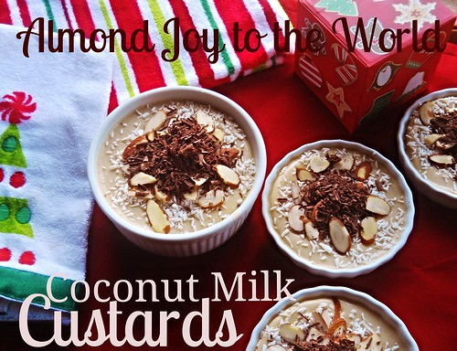 Almond Joy Coconut Milk Custards