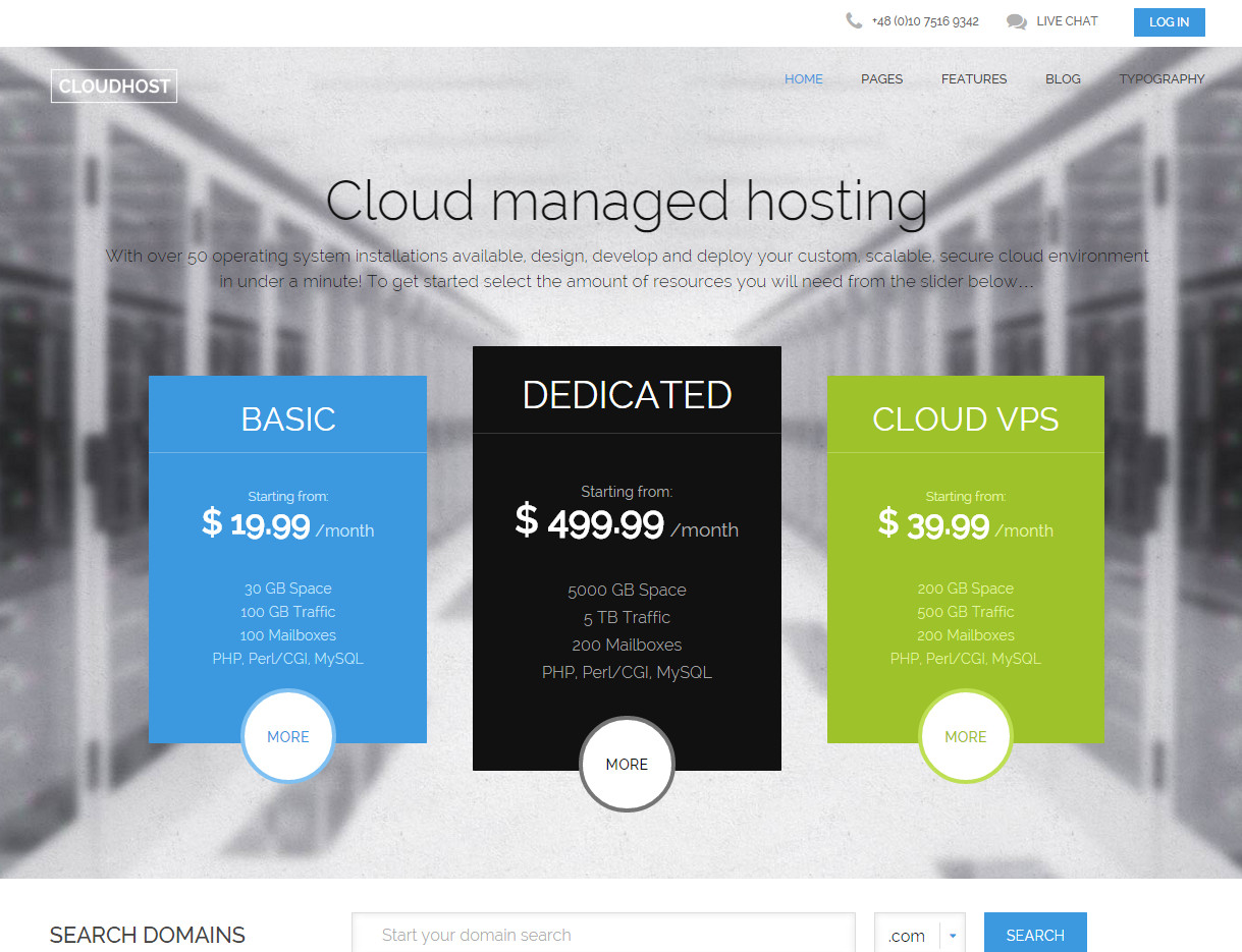 Cloudhost GavickPro - шаблон для CMS Joomla