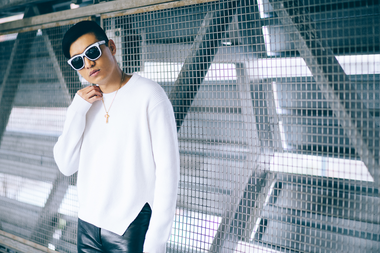 Fashion blogger Bryanboy wears a Tom Ford penis pendant necklace