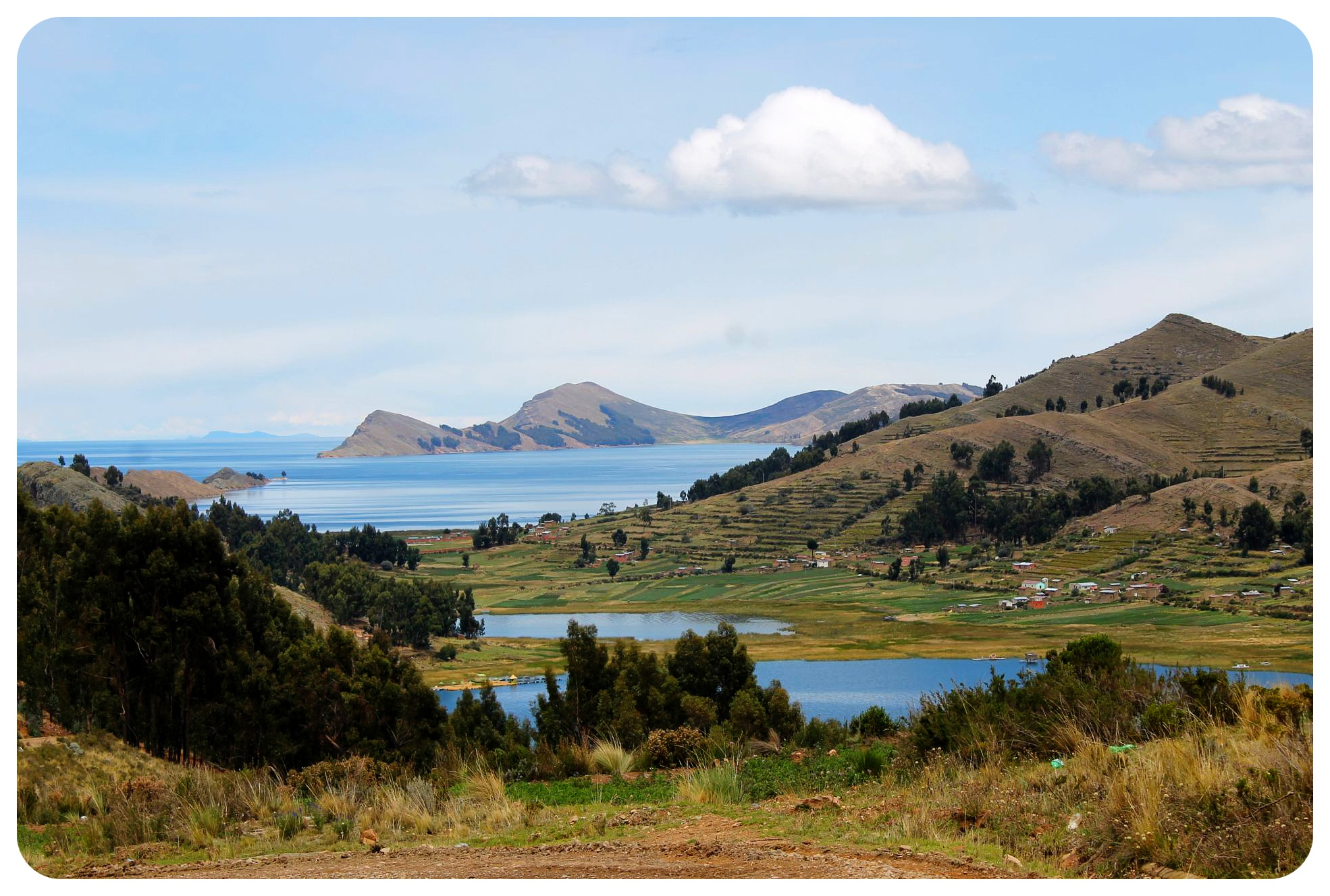 lake titicaca view bolivia