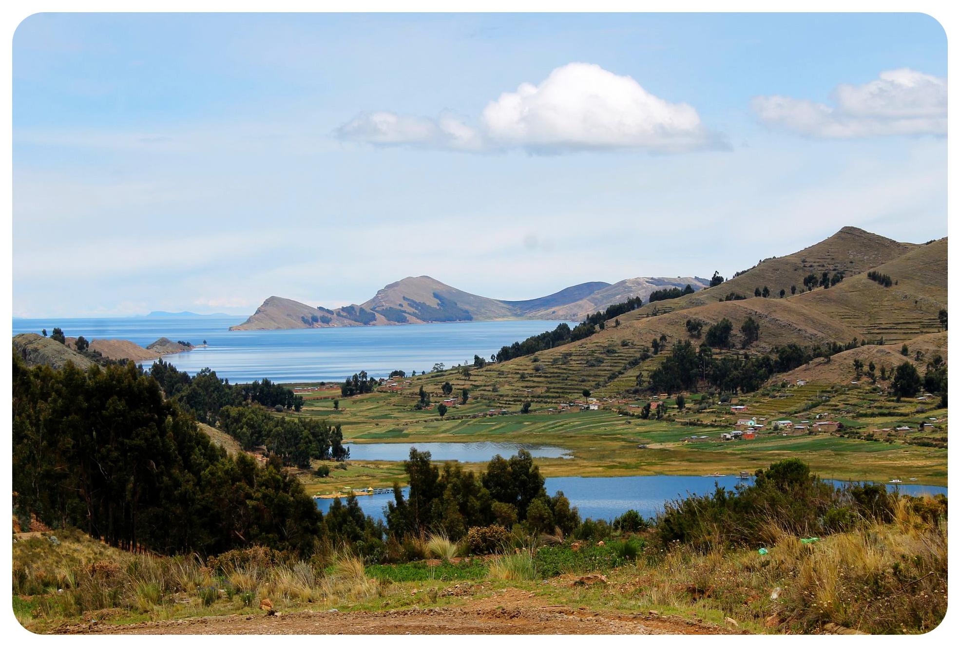 lake titicaca view bolivia