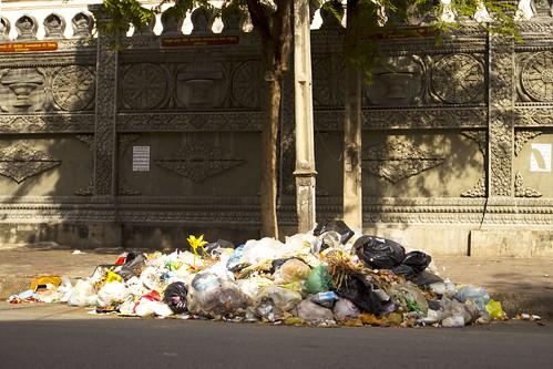 Garbage in Phnom Penh
