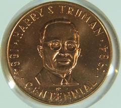 Truman Centennial Medal obverse
