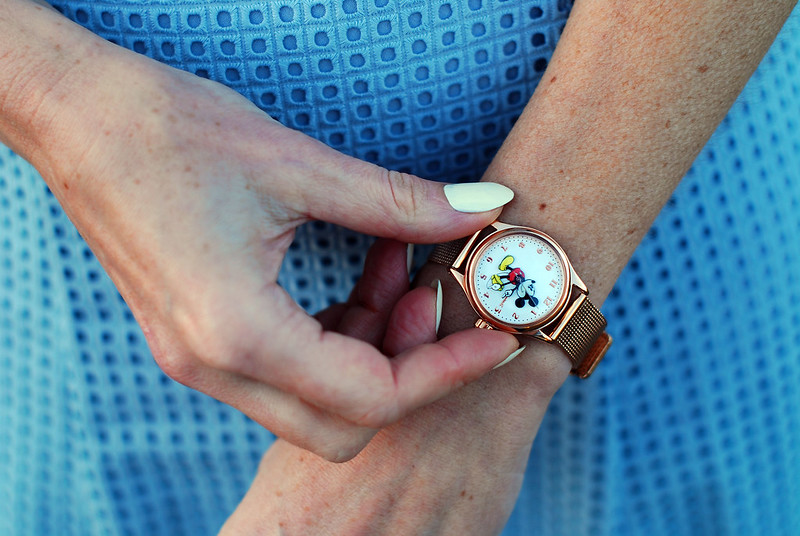 Gold Disney Mickey Mouse watch