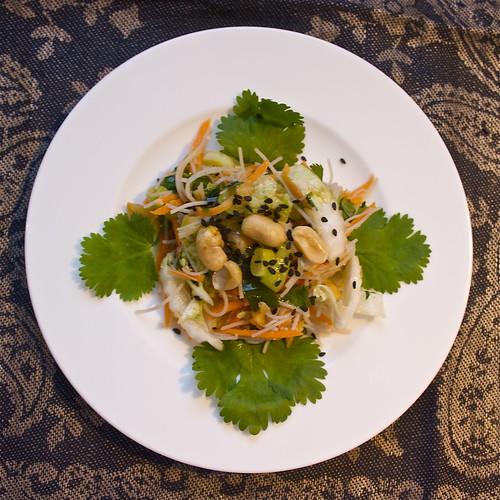 Pad Thai-ish noodle slaw