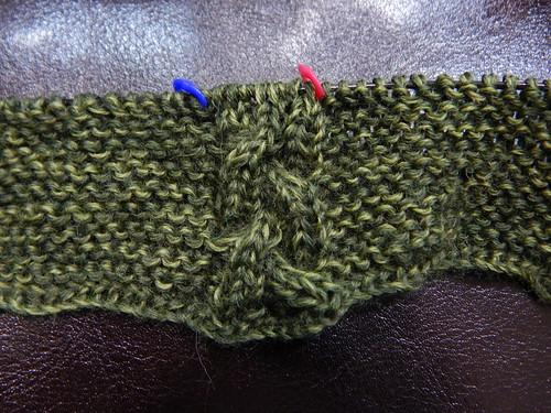 косичка в начале шарфа