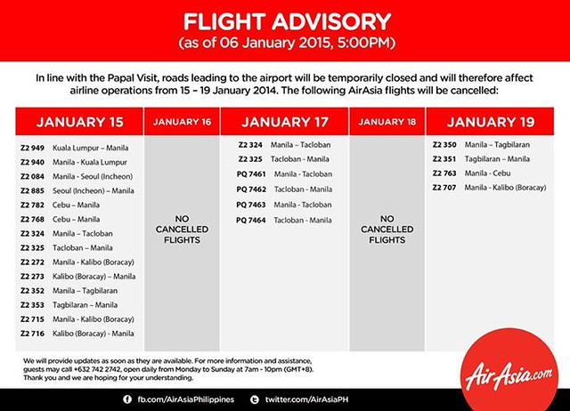 Air Asia cancelled domestic flights