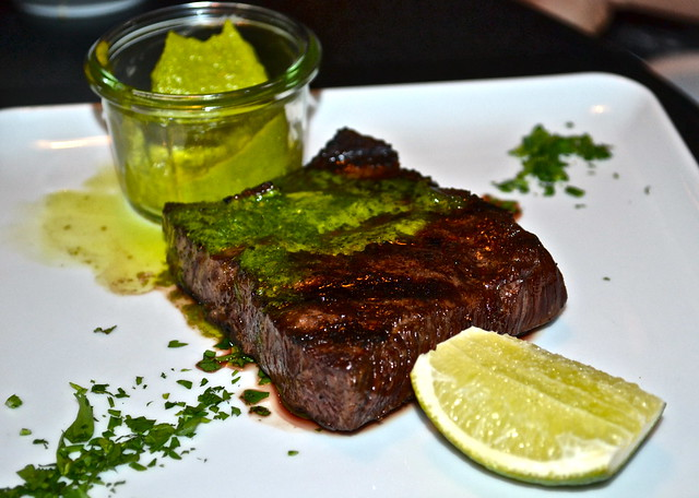 Cook Hall Atlanta - GRILLED WAGYU FLAT IRON, AVOCADO, SALSA VERDE & LIME