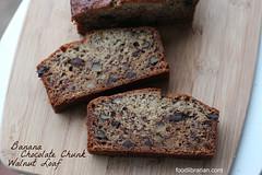 Banana Chocolate Chunk Walnut Loaf - Dahlia Bakery
