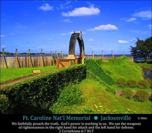 park blue usa green grass saint st wall america river us memorial florida fort united caroline national jacksonville ft fl states jax preserve johns timucuan