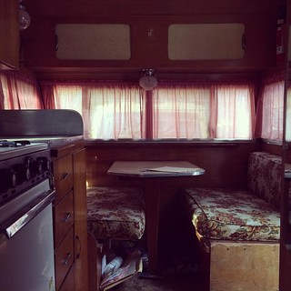 I've got a little work to do, but it's all work I like doing. #vintagetrailer #shasta #Maine
