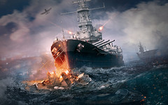 World of Warships Video Game HD Wallpaper