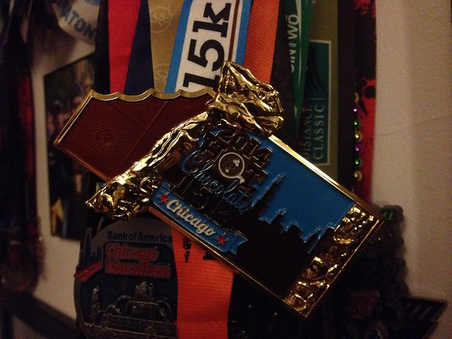 Hot Chocolate 15k medal