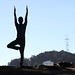 Vrksasana at Alamo Square Park by dominicotine