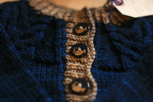 Antler Cardigan for Baby F