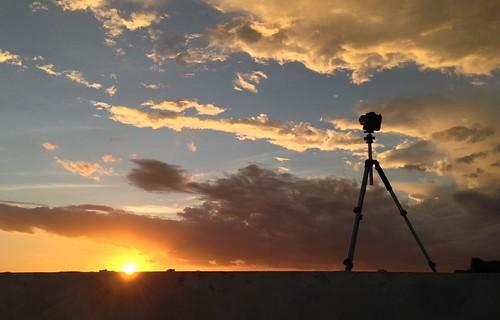 blue sunset orange sun art colors yellow clouds photography photo timelapse nikon tripod skyblue iphone photoshoting
