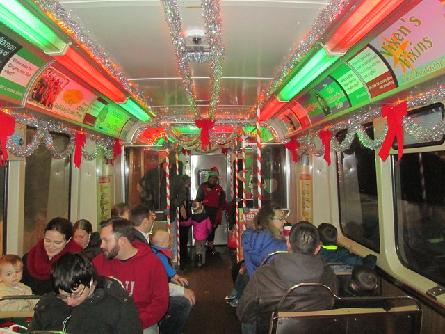 Inside the Yellow Line Holiday Train
