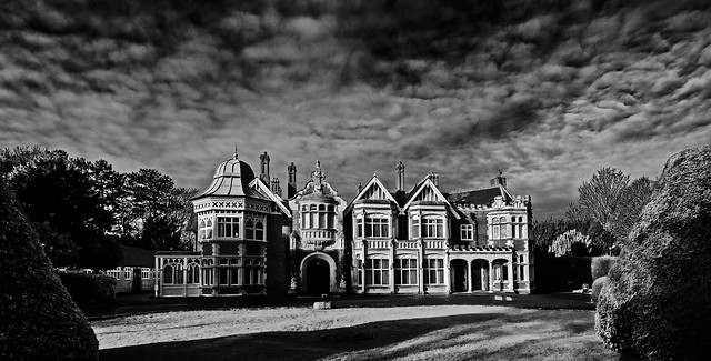 Bletchley's original building..