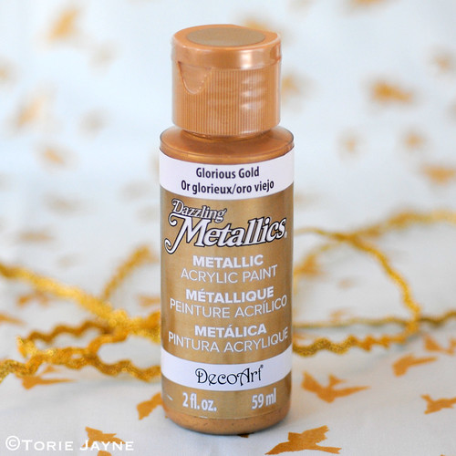 Glorious gold acrylic paint