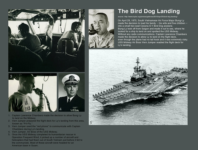 Fall of Saigon - Operation Frequent Wind. The Bird Dog Landing on USS Midway