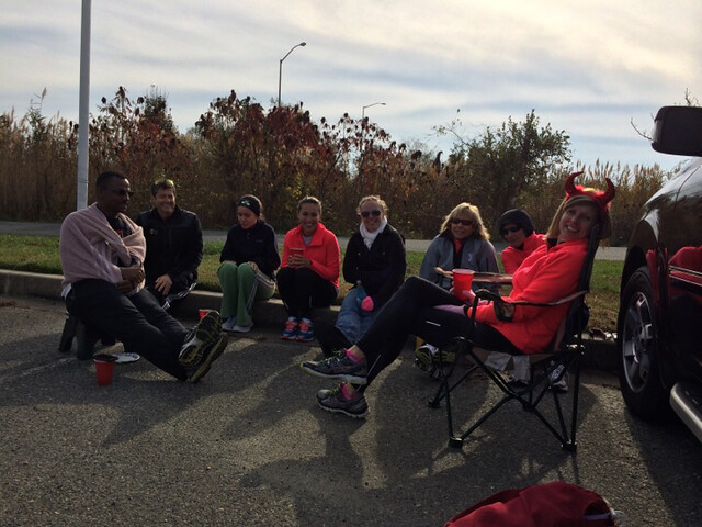 Tailgating after the run