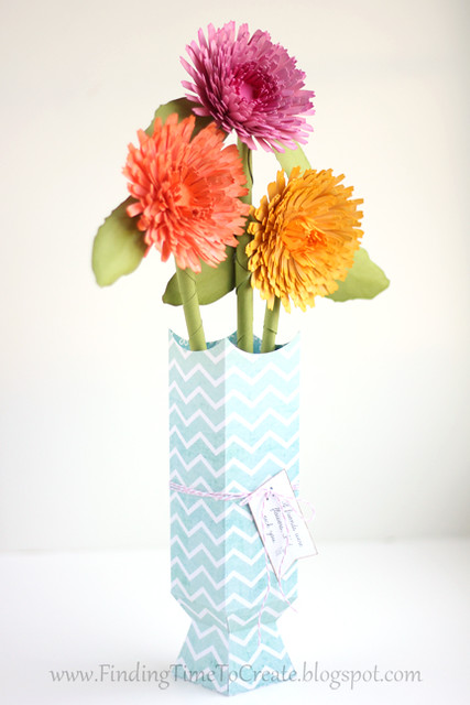 Calendula bouquet by Kelly Wayment side view | Finding Time To Create