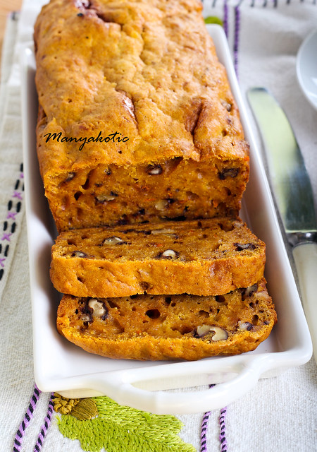 Pumpkin and nut bread