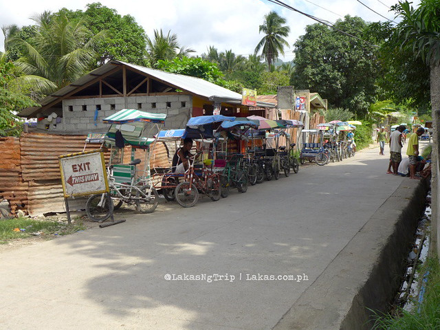 Sikads waiting in line. Dalipuga Falls in Iligan City, Philippines