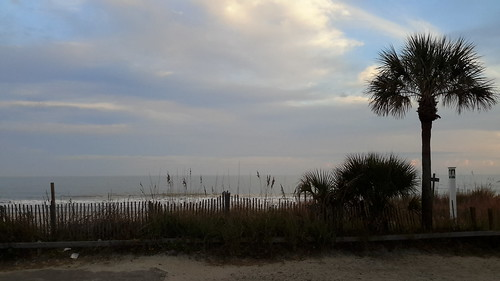 View out our door - the Atlantic Ocean at South Myrtle Beach