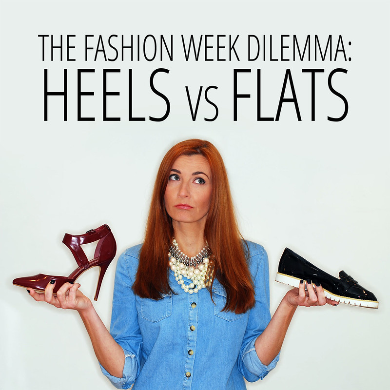 The London Fashion Week Dilemma: Heels vs Flats #LFW