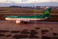 Aer Lingus Airbus A320 EI-DEF, at Birmingham International.