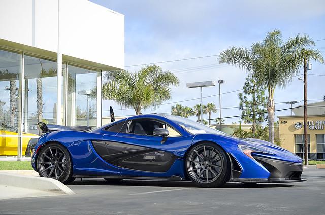 Old Cars Photos >> Azure Blue McLaren P1 | Flickr - Photo Sharing!