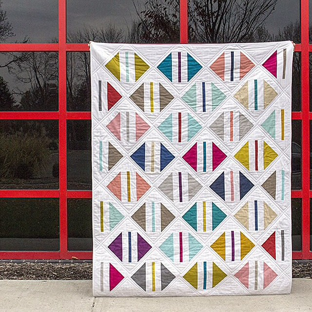 Go to @cloud9fabrics to check out the quilt designed by @mengelbencsko that I pieced and quilted.