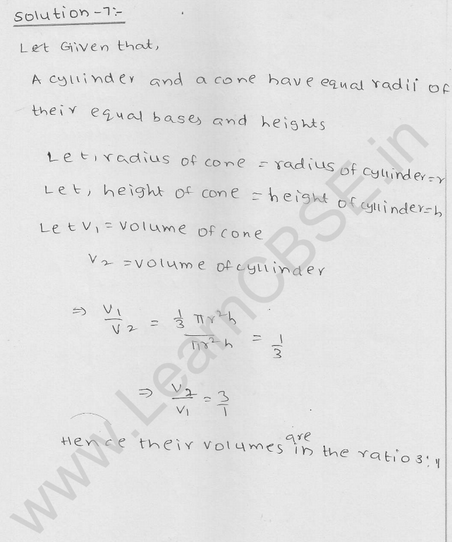 RD Sharma Class 9 solutions Chapter 20 Surface Area and volume of A Right Circular cone Ex 20.2 7