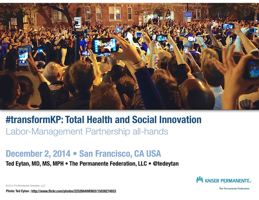 Just Presented: Total Health and Social Innovation, with the Labor Management Partnership