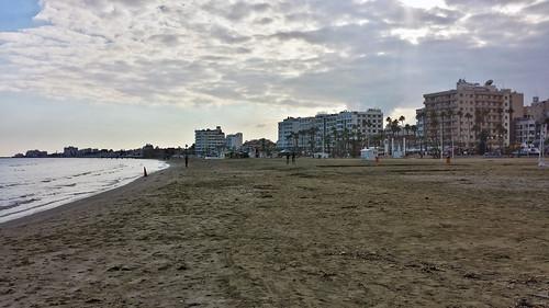 Christmas day, Finikoudes beach, Larnaka