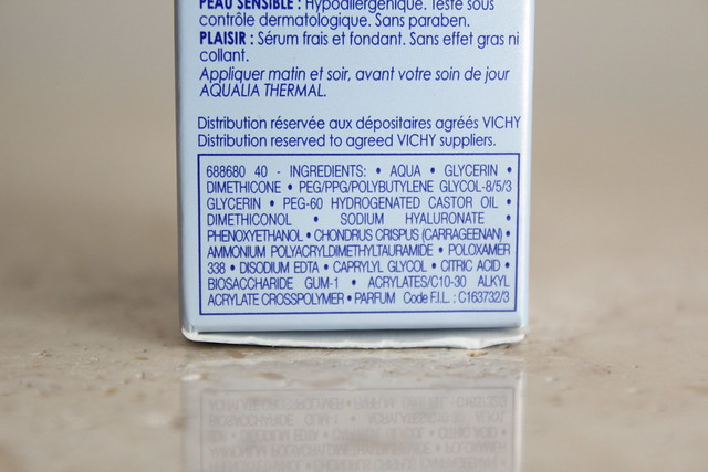 vichy aqualia thermal serum ingredients