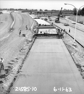 SR 520 under construction, 1963