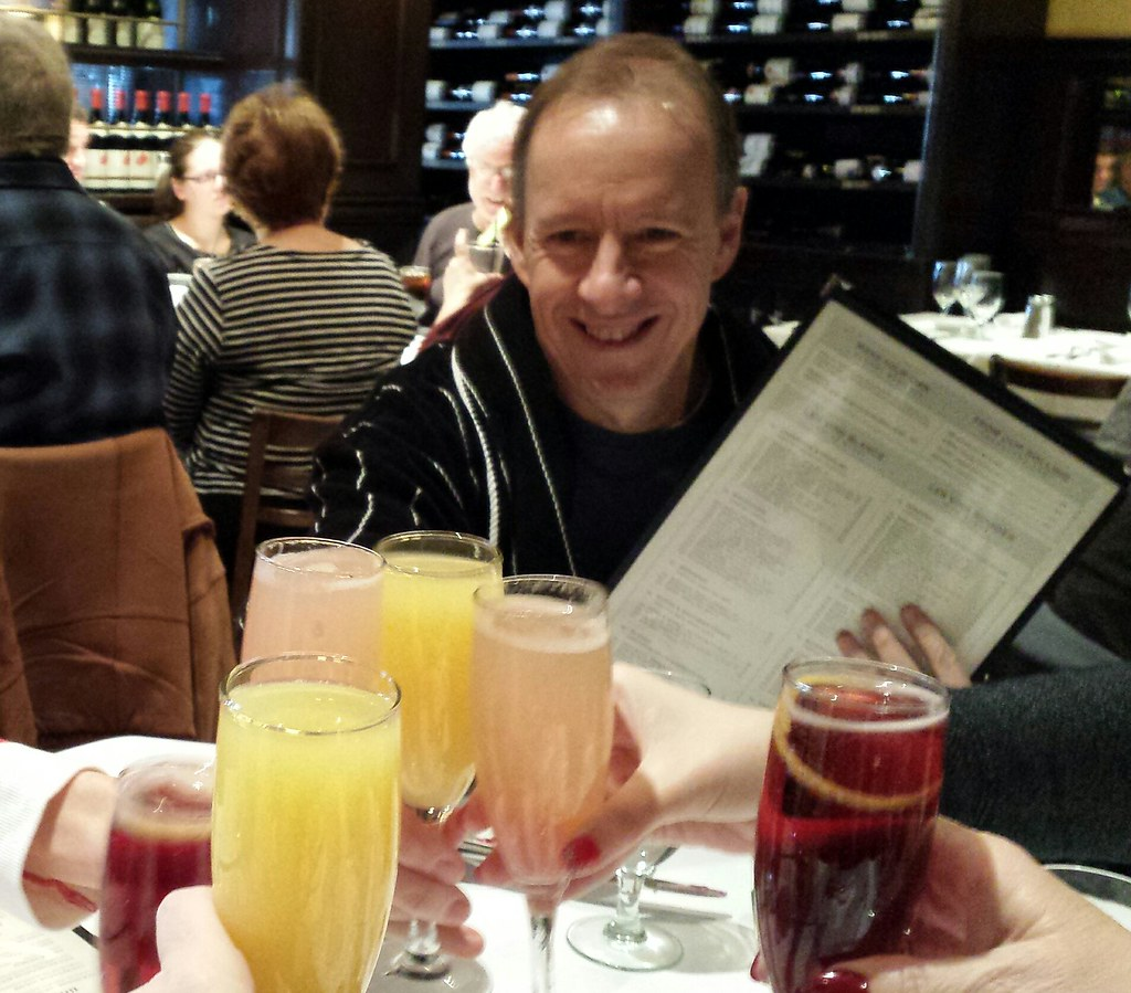 Traditional New Year's Day Pajama Brunch toast!