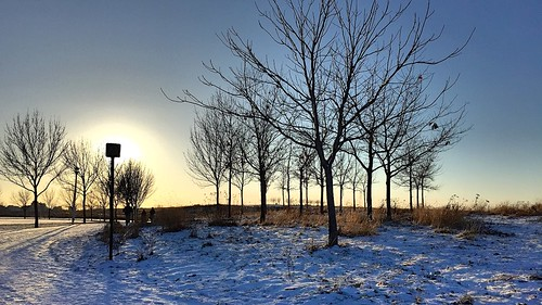 Blue sky of december